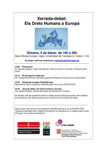 Xerrada-Debat: Els Drets Humans a Europa
