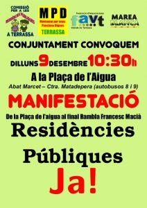 """Roda de Premsa """"Manifestació Residències Públiques"""""""