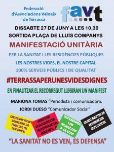 MANIFESTACIÓ UNITÀRIA Sanitat i Residències Públiques